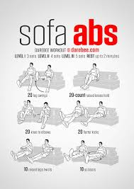 sofa abs workout gotta start somewhere desk exercises stomach toning