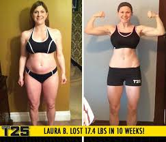 laura b lost 17 4 lbs in 10 weeks with focus t25
