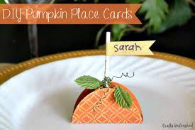 Fall Place Cards Paper Pumpkin Place Cards Step By Step Crafts Unlaeshed