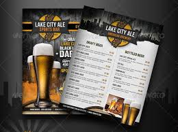 Sports Bar Menu Templates
