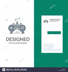 Business Pad Design Vector Game Pad Video Xbox Playstation Grey Logo Design And
