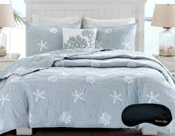 bedspread coastal comforters bedding sets ease with style quilt queen beach house starfish seashell cotton