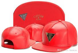 hot leather snapback hats red leather cayler sons designer brand mens women adjustable baseball caps hip hop street caps tymy 494 compton cap baseball