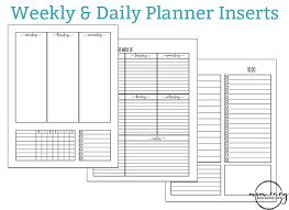 free daily planner printables weekly planner printable and daily planner printable