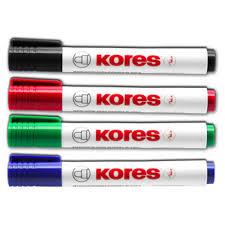 Marqueur pour Tableau blanc et chevalet - Noir KORES M20830   AZ ...