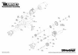 1 16 E Revo 71054 1 Transmission Assembly Exploded View