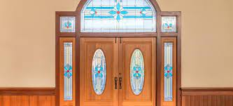 to replace glass panels in a front door