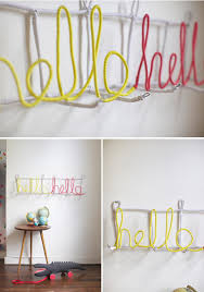 Wire Coat Rack Letter Coatrack DIY 40