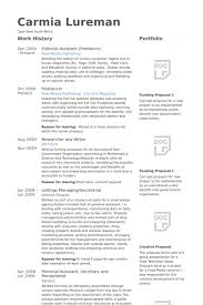 Editorial Assistant (Freelance) Resume samples