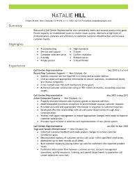 Professional Resume Samples Choose call center representative customer  service resume example emphasis
