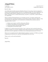 Example Of A Cover Letter For An Internship Resume Cover Letter