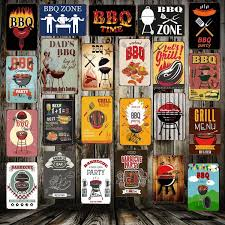 [ <b>Mike86</b> ] BBQ ZONE Grill DADS BARBECUE TIME Metal Signs ...
