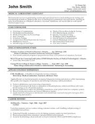 Medical Assistant Resume Templates Free Cool Sample Of A Medical Assistant Resume Resume Template Medical