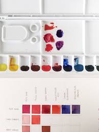 How To Make Color Mixing Chart 5 Types Of Watercolor Charts Type 4 Color Mixing Chart