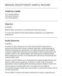 Medical Office Receptionist Resume 1667