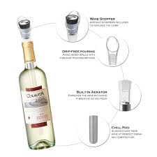 <b>4IN1</b> Stainless Steel <b>Wine</b> Bottle Cooler Stick 2 Pack DeVine <b>Wine</b> ...