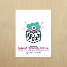 branding characters and collateral designed for the inaugural spokane youth book festival spoyo