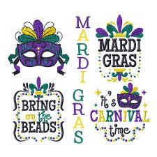 Mardi Gras Designs Machine Embroidery Designs Mardi Gras Collection Of 4