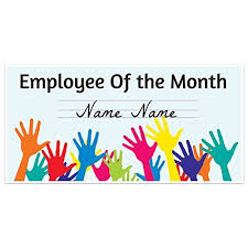 Emploee Of The Month Amazon Com Employee Of The Month Banner Handmade