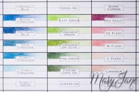 Polychromos Blank Color Chart Www Bedowntowndaytona Com