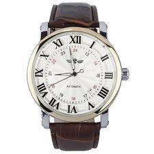 self winding watch winner unisex mens women automatic self winding movt wrist watch leather band ed