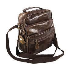 mens distressed leather messenger bag