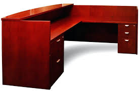 large image for bow front desk office furniture dallas tx cherry finished solid wood reception drawers