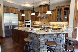 Rustic Beech Cabinets Beautiful Brown Rustic Beech Kitchen Cabinets Large Refrigerator