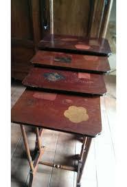 furniture motifs. Set De 4 Tables Gigognes En Bois Aux Motifs D\u0027asie Début XXème Siècle Furniture W