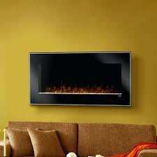 full image for wall hung electric fireplace heater chimney free hanging with and remote mounted dusk