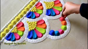 Rangoli Designs For School Competition Top Diwali Rangoli Designs With Colours L Diwali Rangoli 2019 L Thoran Rangoli Design Using Spoon