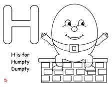 Making Learning Fun Humpty Dumpty Coloring