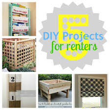 Free Diy Projects 5 Diy Projects For Renters Via Gifts We Use Diy Pinterest Board