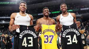 Giannis Antetokounmpo and his brothers ...