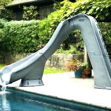 homemade above ground pool slide brilliant build your own typhoon water diy fiberglass backyard homema