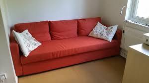 ikea friheten sofa bed three seat skiftebo dark orange