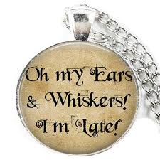 alice in wonderland necklace oh my ears whiskers alice in wonderland jewelry gl dome