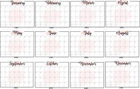 Blank 12 Month Calendar Bossfidence