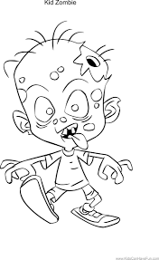 Zombie Kid Coloring Page Http Www