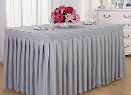 popular fancy wedding table skirting designs table