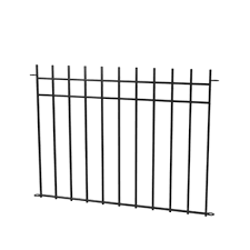 peak 1200mm black no dig fencing