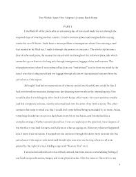 writing sample emerson essay  1 two worlds apart one adoptee s journey back home part i i shuffled off