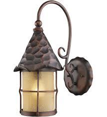 elk lighting 385 ac rustica antique copper 19 inch 1 light outdoor wall undefined
