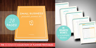 printable small business planner an organized business is a profitable business bussiness planner