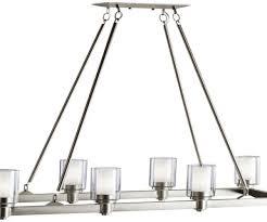 involved brushed nickel rectangular chandelier