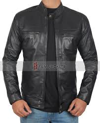black vintage biker jacket black leather motorcycle jacket
