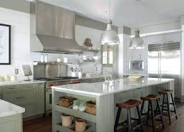 beautiful gray green kitchen design with white paneled walls gray green kitchen cabinets gray green kitchen island gray green shelves calcutta marble