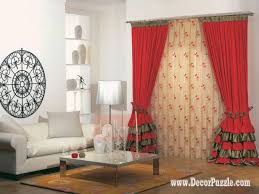 Accessories Fascinating Window Treatment Decoration Using Red Red Curtain Ideas For Living Room
