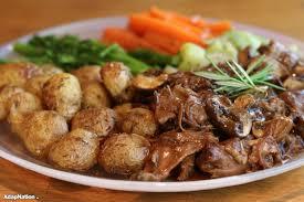 Slow Roast Lamb Roasted Baby Potatoes Tender Veg Adapnation