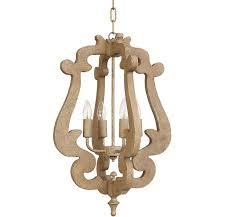 wooden scroll pendant chandelier
